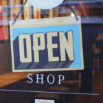 open sign for laundromat business